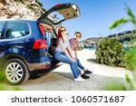 summer time and car trip with... | Shutterstock . vector #1060571687