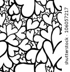 Doodle Hearts Seamless Pattern.