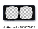 virtual reality screen with... | Shutterstock .eps vector #1060572839