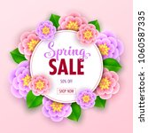 floral spring sale banner with... | Shutterstock .eps vector #1060587335