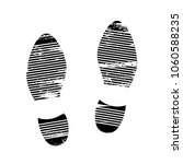 footprints and shoeprints icons ... | Shutterstock .eps vector #1060588235