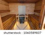 sauna room with  sauna... | Shutterstock . vector #1060589837