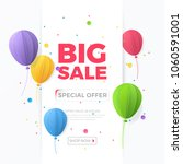 big sale banner with white... | Shutterstock .eps vector #1060591001