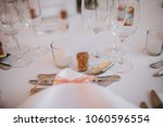 on the festive table in the... | Shutterstock . vector #1060596554