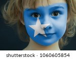 portrait of a child with a... | Shutterstock . vector #1060605854
