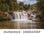 waterfall in krka national park ... | Shutterstock . vector #1060610369