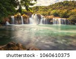 waterfall in krka national park ... | Shutterstock . vector #1060610375