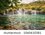 waterfall in krka national park ... | Shutterstock . vector #1060610381