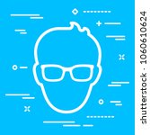 head of man with glasses icon... | Shutterstock .eps vector #1060610624