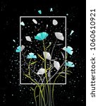postcard abstract flowers on... | Shutterstock .eps vector #1060610921