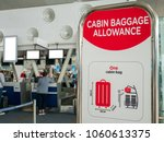 Small photo of Checked Baggage Allowance Signage