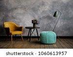 knitted pouf in a modern... | Shutterstock . vector #1060613957
