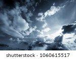 background of dark clouds... | Shutterstock . vector #1060615517