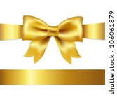 golden bow  isolated on white... | Shutterstock .eps vector #106061879