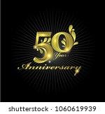 50th anniversary celebration.... | Shutterstock .eps vector #1060619939
