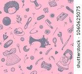 hand drawn seamless pattern... | Shutterstock .eps vector #1060625075
