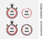 timer 55 seconds on gray... | Shutterstock .eps vector #1060628021