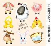 farm life. cartoon fun farm... | Shutterstock .eps vector #1060628549