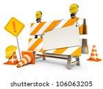 under construction barrier.... | Shutterstock . vector #106063205