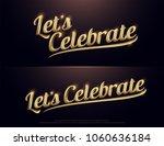let's celebration golden logo.... | Shutterstock .eps vector #1060636184