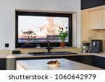 kitchen interior with a large... | Shutterstock . vector #1060642979