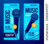 vector illustration blue music...   Shutterstock .eps vector #1060644557