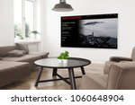 modern panoramic smart tv on a... | Shutterstock . vector #1060648904
