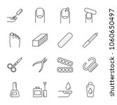 manicure set of vector icons ... | Shutterstock .eps vector #1060650497