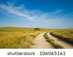 A Gravel Road Going Through Th...