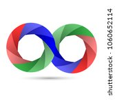 vector infinity icon with... | Shutterstock .eps vector #1060652114