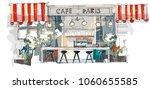 contemporary interior cafe... | Shutterstock .eps vector #1060655585