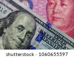 close up of one hundred dollar... | Shutterstock . vector #1060655597