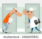 vector illustration of doctor... | Shutterstock .eps vector #1060655831