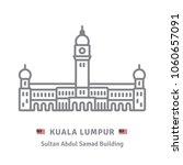 malaysia line icon. sultan... | Shutterstock .eps vector #1060657091