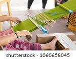handmade weaving in ancient... | Shutterstock . vector #1060658045