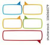 colorful speech bubble frames.... | Shutterstock . vector #106066079