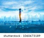 successful businessman standing ... | Shutterstock . vector #1060673189