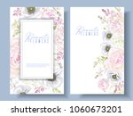 vector botanical banners with... | Shutterstock .eps vector #1060673201