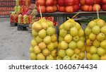 apples organic fruit in sacks... | Shutterstock . vector #1060674434