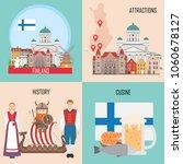 finland set with helsinki ... | Shutterstock .eps vector #1060678127