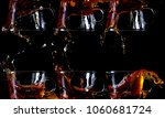 six cups of tea pouring out of... | Shutterstock . vector #1060681724
