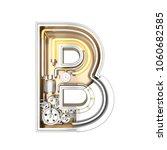 mechanic alphabet  letter b on... | Shutterstock . vector #1060682585