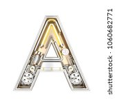mechanic alphabet  letter a on... | Shutterstock . vector #1060682771