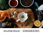 assortment of ingredients for... | Shutterstock . vector #1060683281