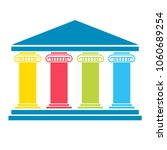 four pillar diagram. vector... | Shutterstock .eps vector #1060689254
