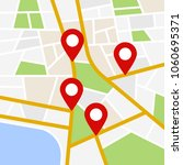 street maps and directions | Shutterstock .eps vector #1060695371