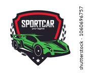 sports car logo template.... | Shutterstock .eps vector #1060696757