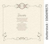 vector decorative frame.... | Shutterstock .eps vector #1060698575
