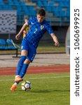 Small photo of VELIKA GORICA, CROATIA - MARCH 27, 2018: European Under-21 Championship Qualifying Round. Match between Croatia and Moldova 4-0. In action Fran KARACIC (2)