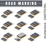 isometric vector road marking ... | Shutterstock .eps vector #1060701581